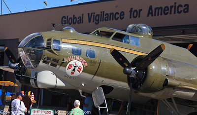 An original Thunder Bird! B-17 Flying Fortress at Offutt Air Show