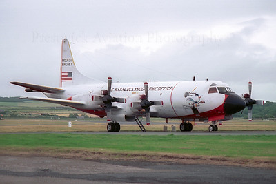 158227. Lockheed RP-3D P-3 Orion. USN Oceanographic Office. Prestwick. 1980`s.