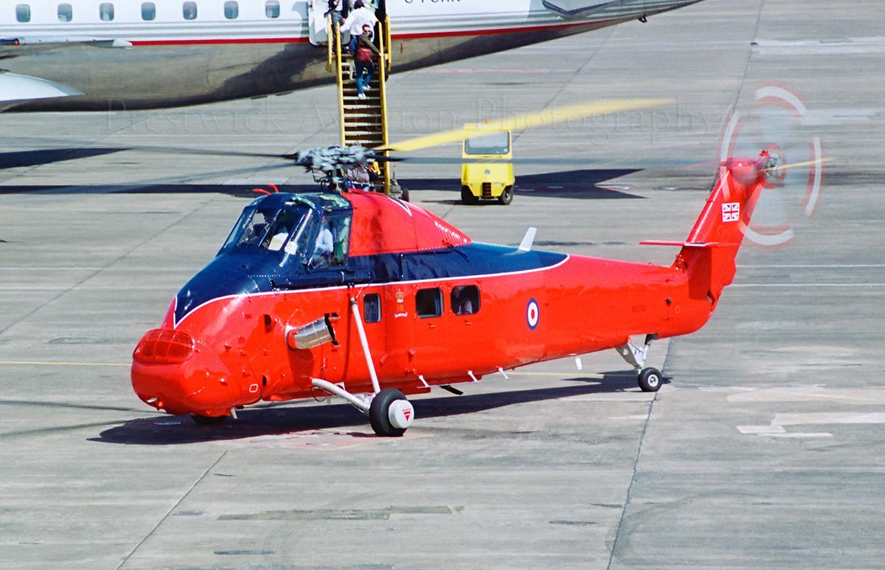 XV732. Westland Wessex HCC4. RAF. Prestwick. 1980`s.<br /> <br /> Negative scan.