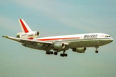 C-GXRB. McDonnell Douglas DC-10-30. Wardair. Prestwick. 1980`s.