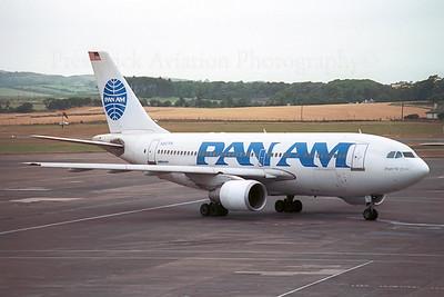 N807PA. Airbus A310-222. Pan Am. Prestwick. 1980`s.