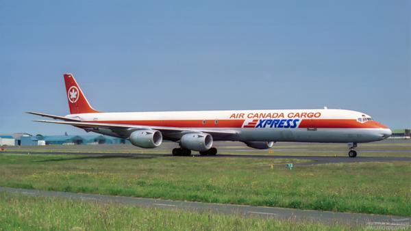 C-FTIK. Douglas DC-8-73(F). Air Canada Cargo. Prestwick. 1980`s.