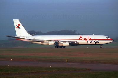 G-EOCO. Boeing 707-338C. Anglo Cargo. Prestwick 1990`s.