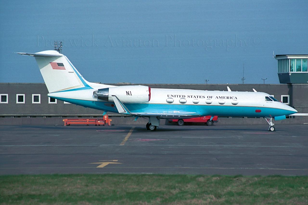 N1. Gulfstream Aerospace Gulfstream IV. Federal Aviation Administration. Prestwick. 1990`s.