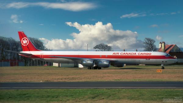 C-FTIS. Douglas DC-8-73(F). Air Canada Cargo. Prestwick. 1980`s.