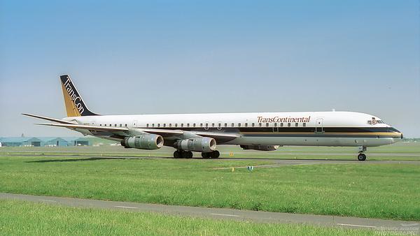N821TC. Douglas DC-8-61. Trans Continental. Prestwick. 1990.