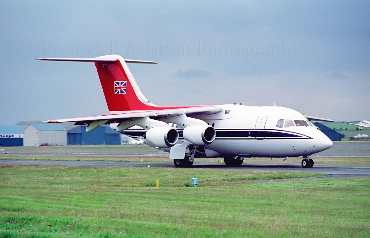 ZE701. British Aerospace BAe-146 CC2. RAF. Prestwick. 1990`s.