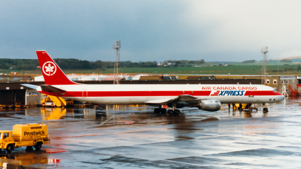 C-FTIQ.  Douglas DC-8-73(F). Air Canada Cargo. Prestwick. 1980`s.