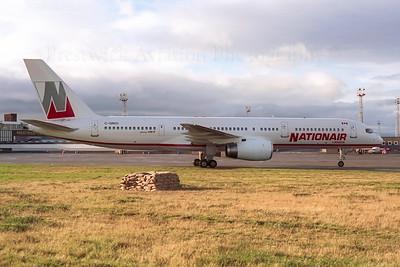 C-GNXI. Boeing 757-28A. Nationair. Prestwick. 1990`s.