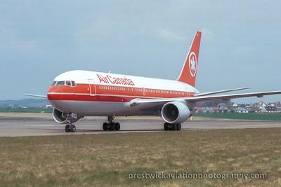 C-GDSS. Boeing 767-233/ER. Air Canada. Prestwick. 1980`s.