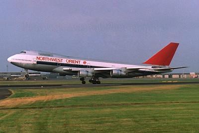N609US. Boeing 747-151. Northwest Orient .Prestwick. 1980`s.