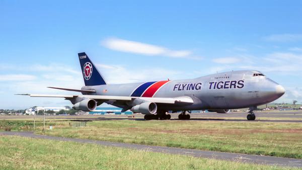 N816FT. Boeing 747-245/FSCD. Flying Tigers. Prestwick. 1980`s.