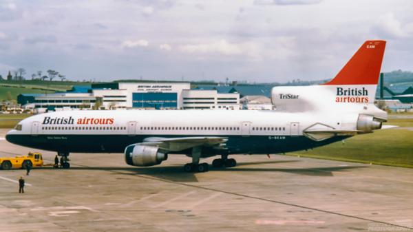 G-BEAM. Lockheed L-1011-50 Tristar.  British Airtours. Prestwick. 1980`s.