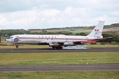 13703. Boeing CC-137. Canadian Armed Forces. Prestwick. 1980`s.  Negative scan.