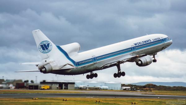 C-GIES. Lockheed L-1011-385-1-15 TriStar 100. Worldways. Prestwick. 1980`s.