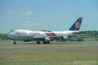 N816FT. Boeing 747-245F/SCD. Flying Tigers. Prestwick. 1980`s.