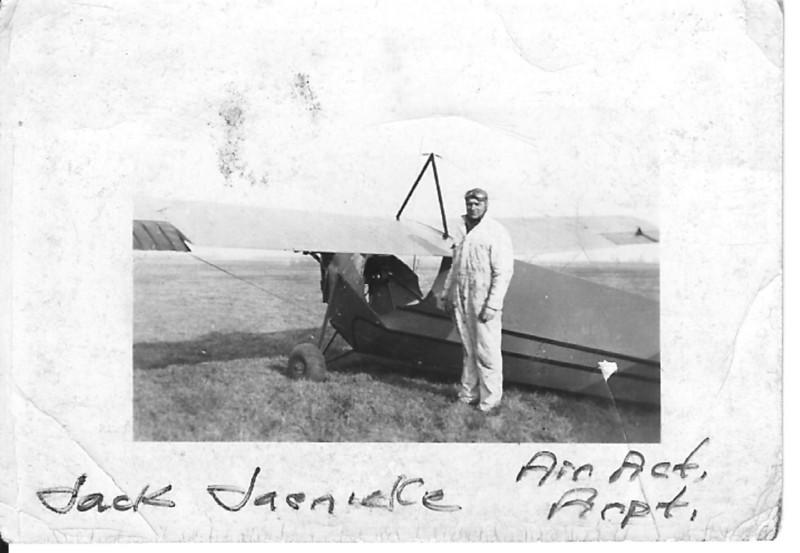 Jack Jaenicke's with his Aeronca C3