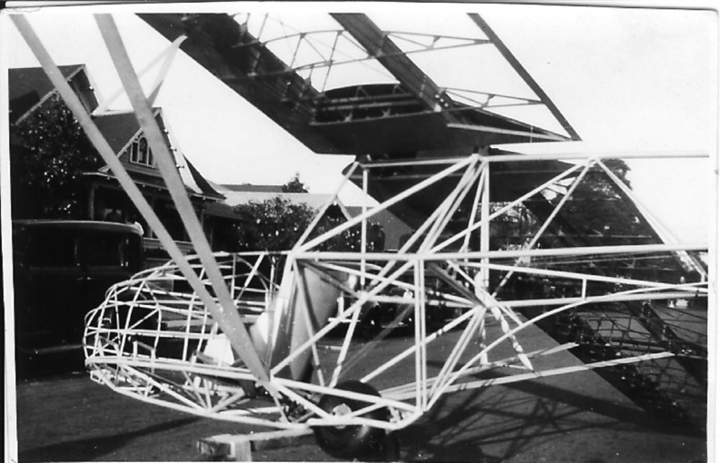 1941 - Briegleb BG-6 glider that Bill Prescott help build in the basement of a bank in Glen Ellyn, IL