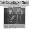 Article from the April 17, 1941 The Glen Ellyn News on Bill Prescott and Ed Iverson building the Briegleb BG-6 glider in the basement of State Bank building.