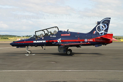 ZJ100. British Aerospace Hawk 102D. RAF. Prestwick. 120704.