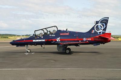 ZJ100. British Aerospace Hawk 102D. RAF. Prestwick. 120704.