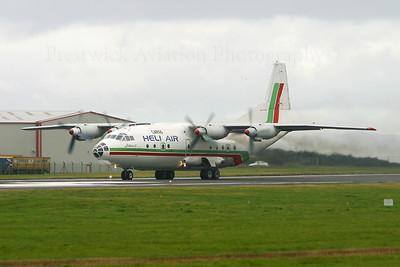 LZ-CBE. Antonov An-12B. Heli Air Cargo. Prestwick. 110904.