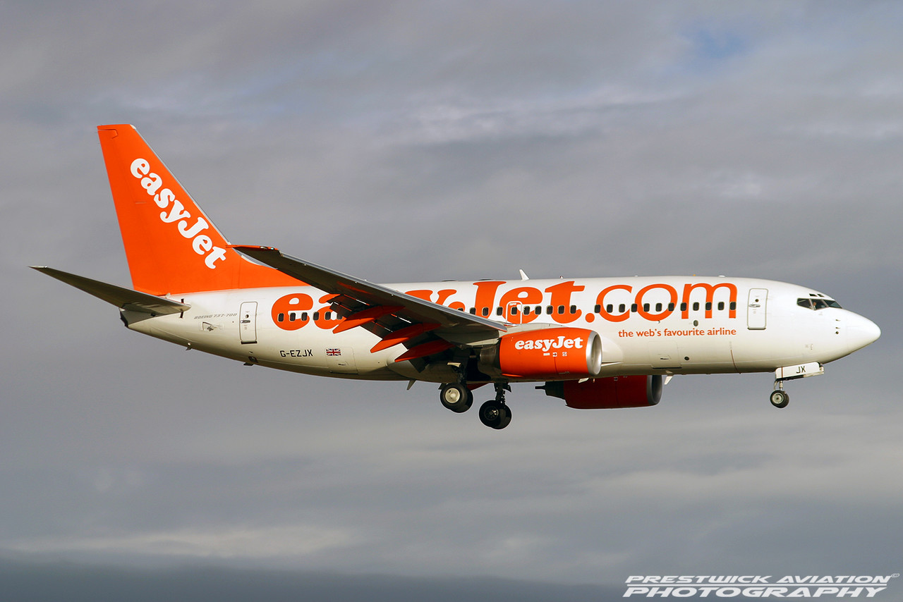 G-EZJX, Boeing 737-73V, EasyJet, Prestwick, 231103,