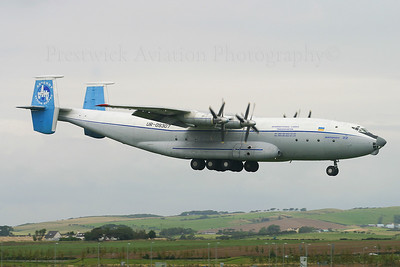 UR-09307. Antonov An-22. Antonov Design Bureau. Prestwick. 010904.