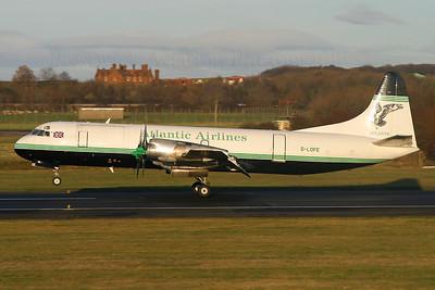 G-LOFE. Lockheed L-188C(F) Electra. Atlantic Airlines. Prestwick. 281104.