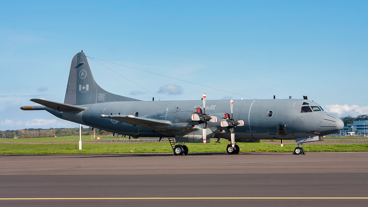 140111. Lockheed CP-140 Aurora. Canadian Air Force. Prestwick. 020514.