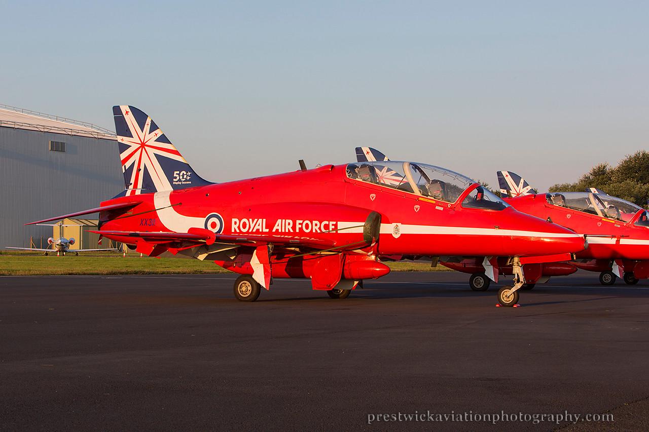 XX311. British Aerospace Hawk T1. RAF. Prestwick. 240714.