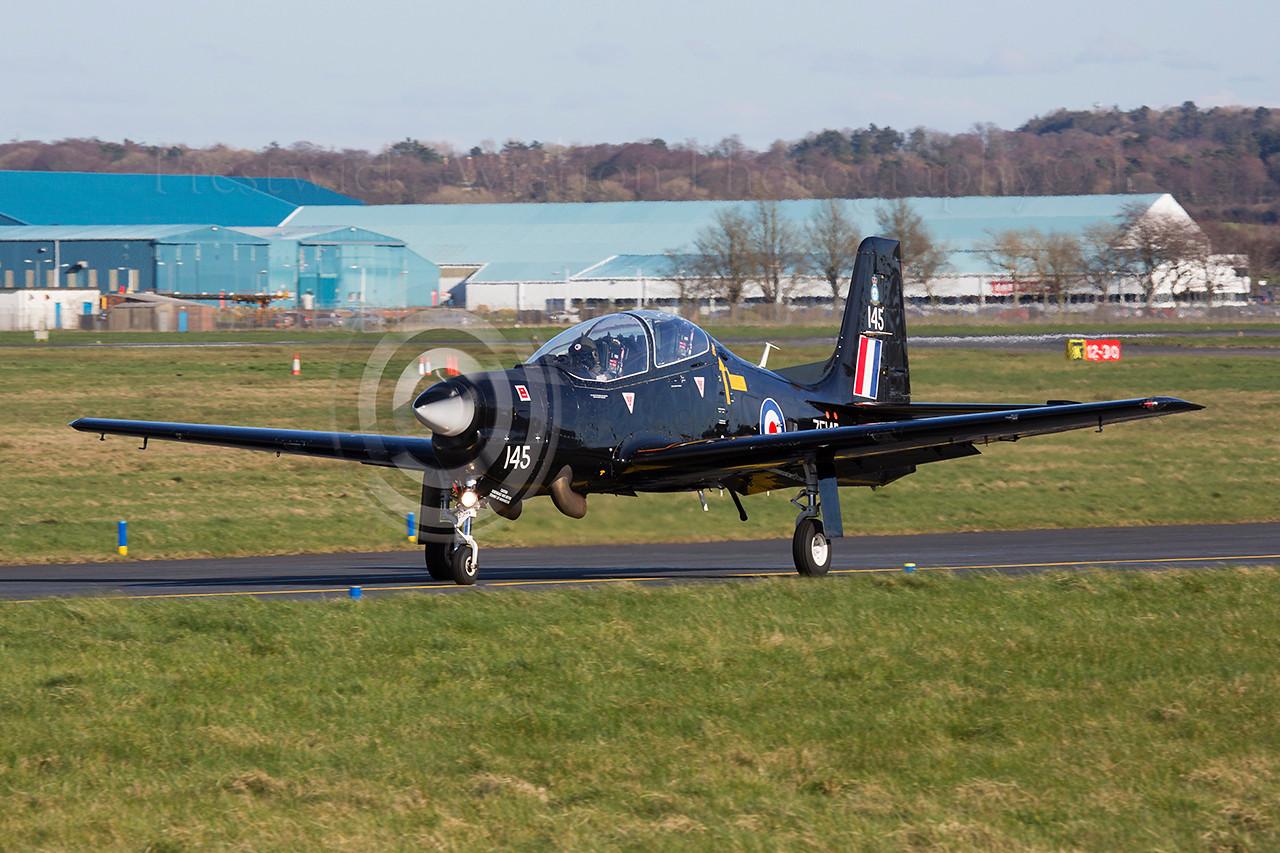 ZF145. Shorts S-312 Tucano T1. RAF. Prestwick. 250314.