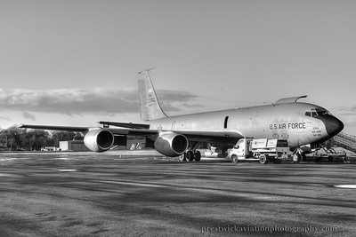 61-0324. Boeing KC-135R Stratotanker. USAF. Prestwick. 021214.