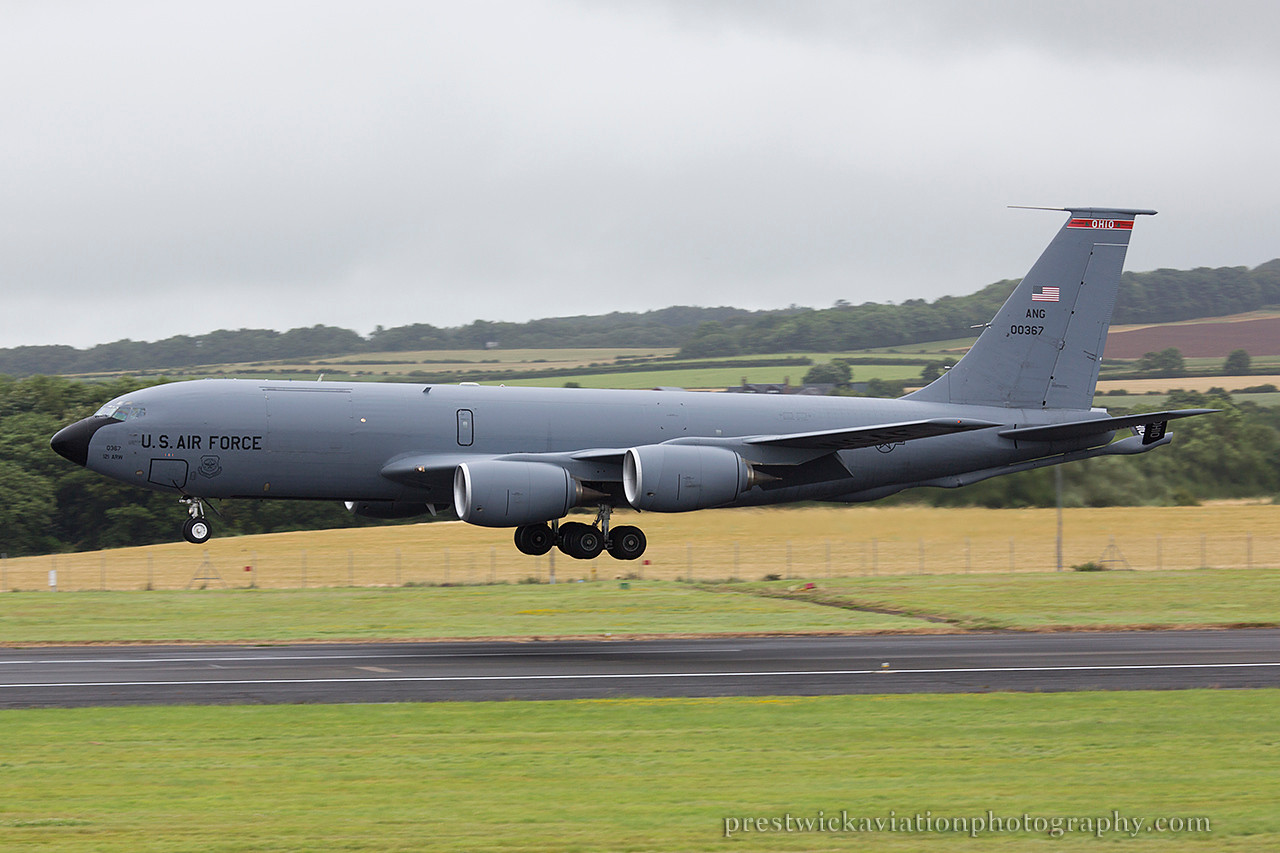 60-0367. Boeing KC-135R Stratotanker. USAF. Prestwick. 270714.
