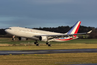 F-RARF. Airbus A330-223. French Air Force. Prestwick. 151214.