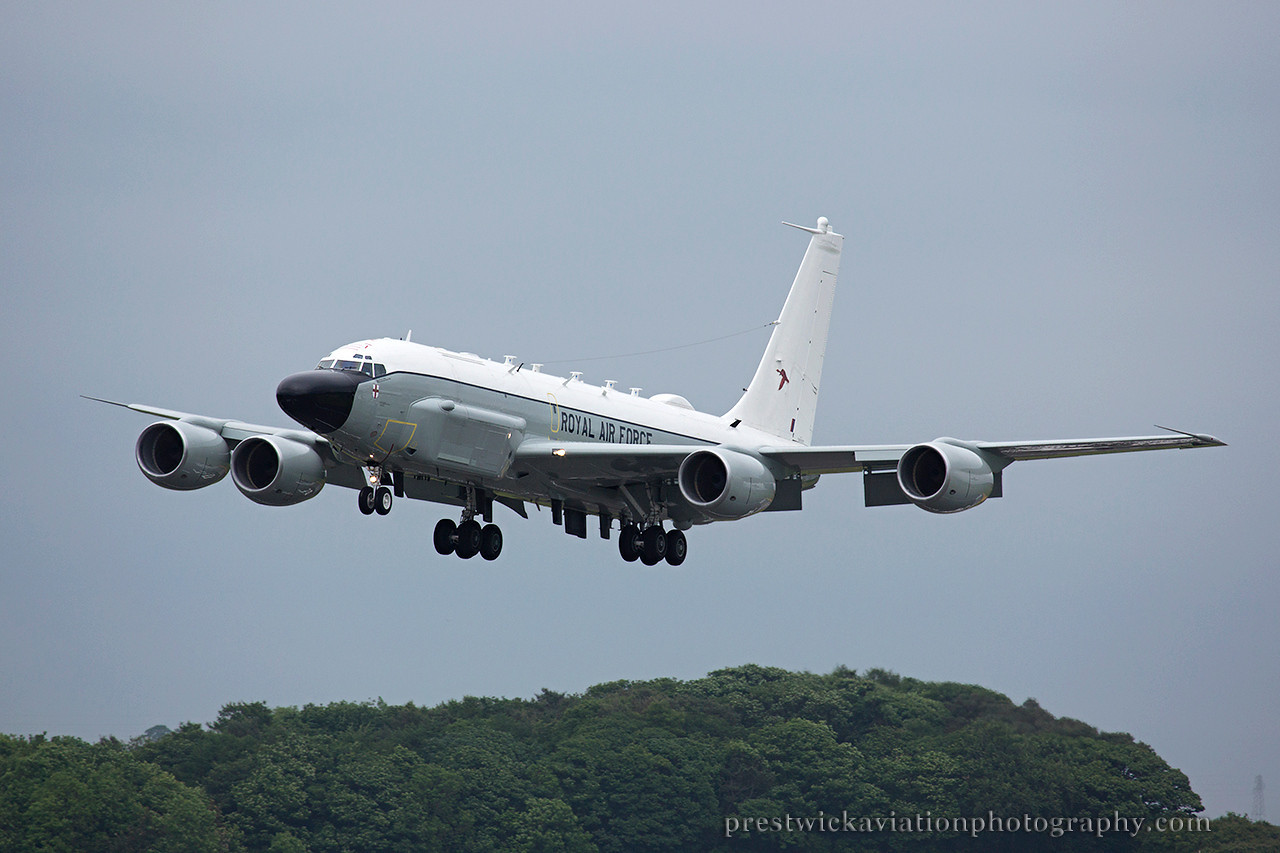 ZZ664. Boeing RC-135W. RAF. Prestwick. 120614.<br /> <br /> First visit of the RAF Rivet Joint.