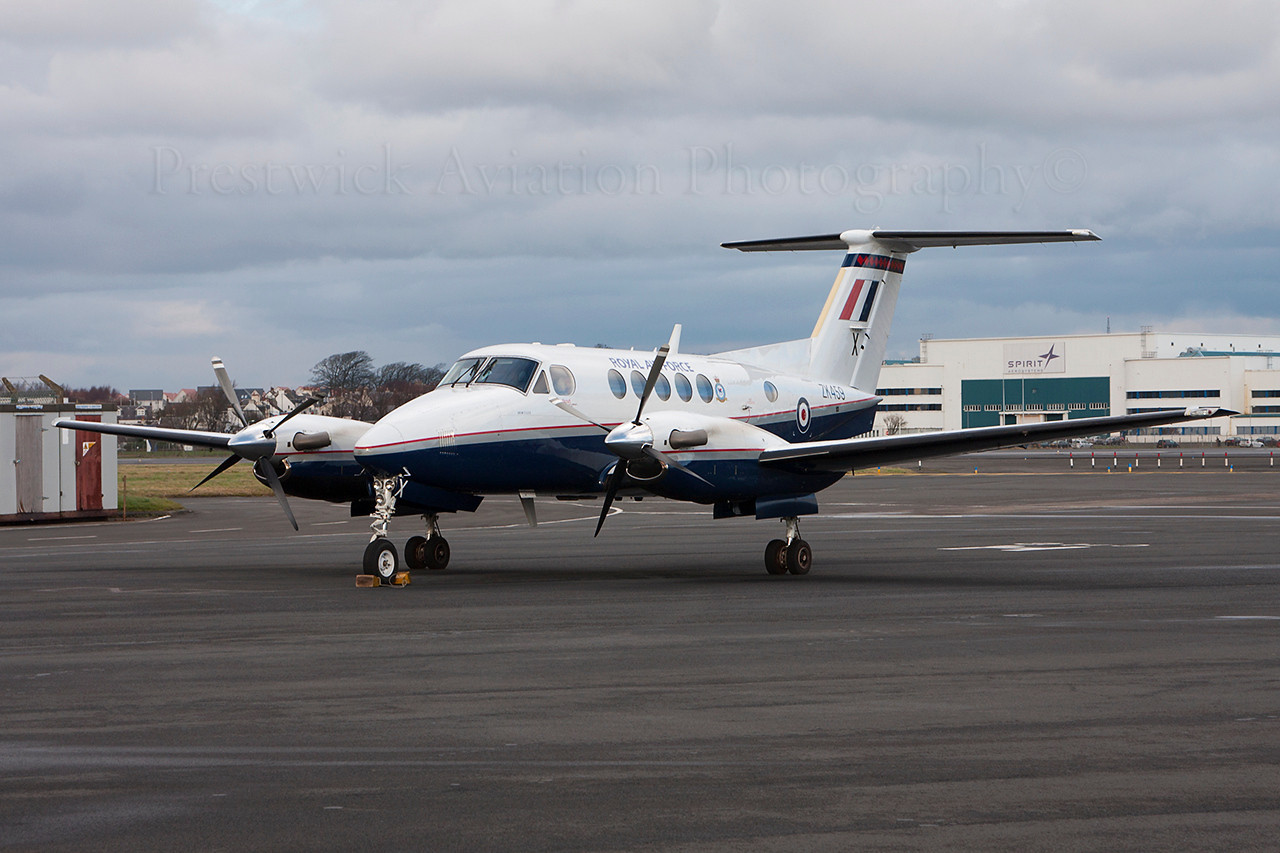 ZK459. Hawker Beechcraft B200GT King Air. RAF. Prestwick. 290114.