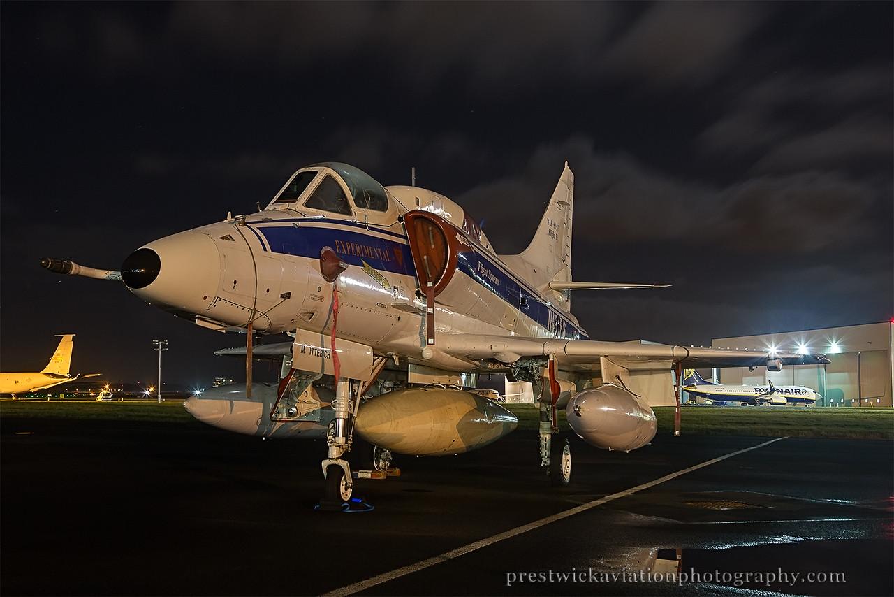 N431FS. McDonnell Douglas A-4N Skyhawk II. Bae Systems. Prestwick. 021214.