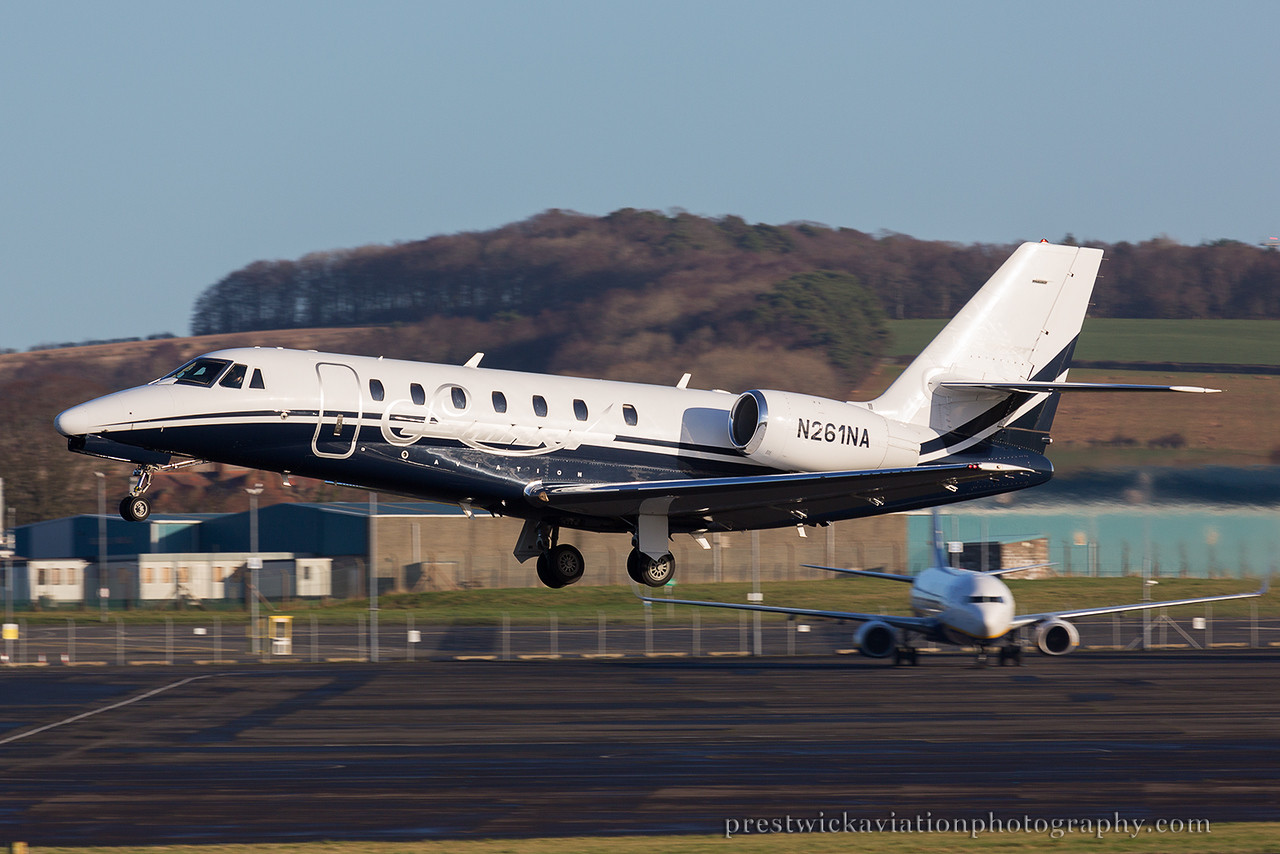 N261NA. Cessna 680 Citation Sovereign. Private. Prestwick. 021214.
