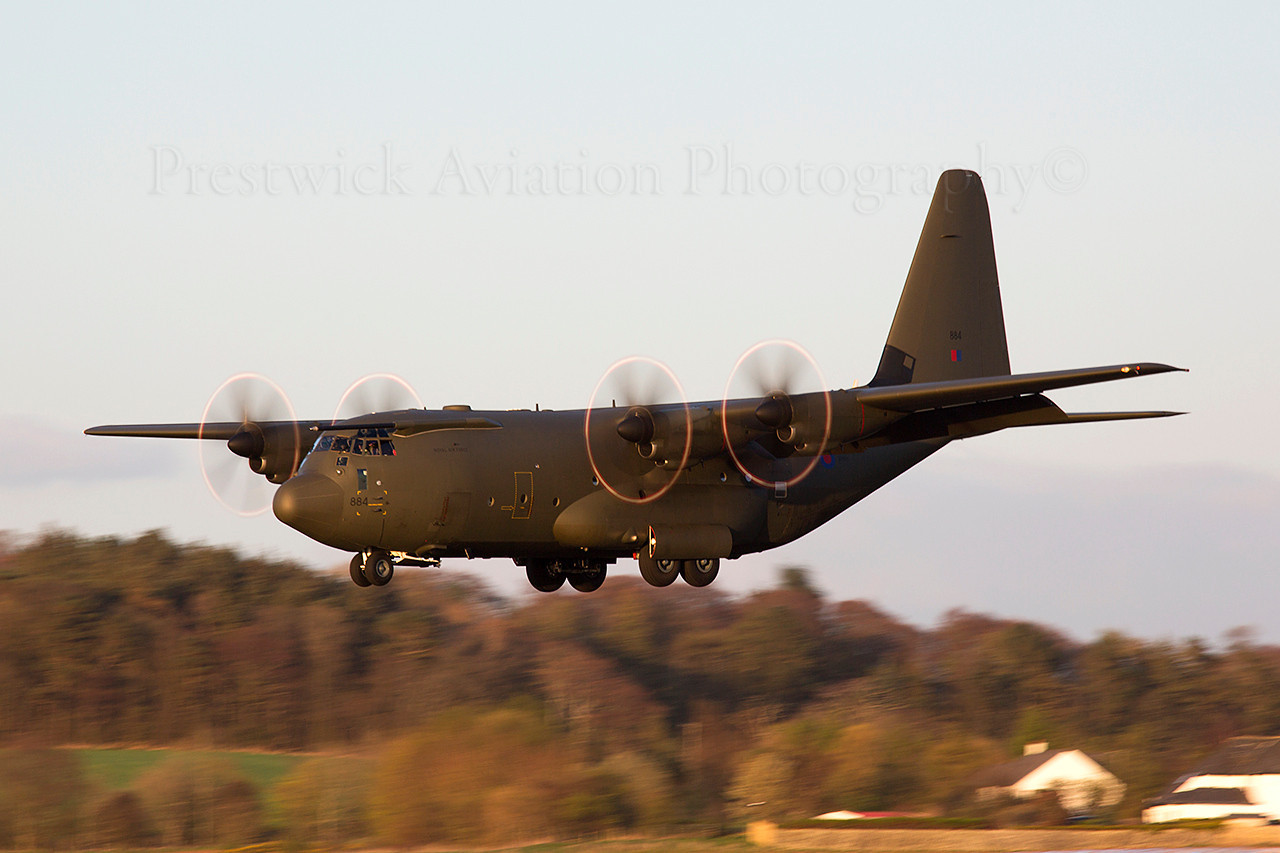 ZH884. Lockheed Martin C-130J Hercules C5. RAF. Prestwick. 140414.