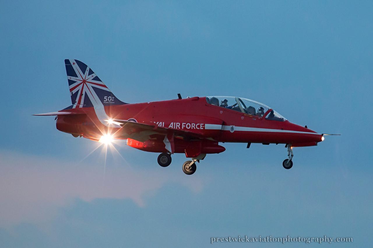 XX319. British Aerospace Hawk T1A. RAF. Prestwick. 230714.