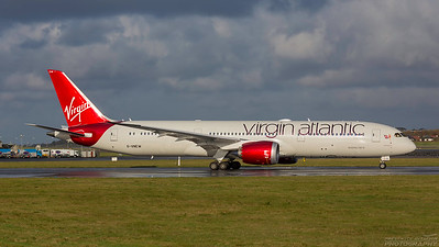 G-VNEW. Boeing 787-9 Dreamliner. Virgin Atlantic. Prestwick. 011114.