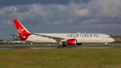 G-VNEW. Boeing 787-9 Dreamliner. Virgin Atlantic. Prestwick. 011114.