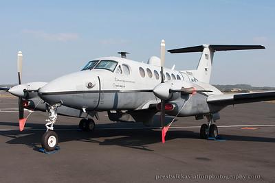 09-0639. Raytheon Beech MC-12W Liberty. USAF. Prestwick. 100914.