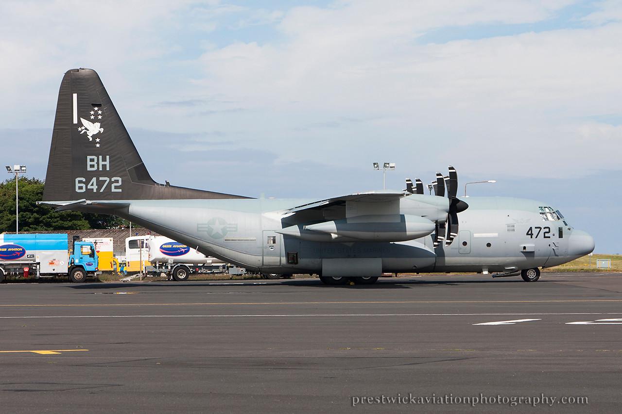 166472. Lockheed Martin KC-130J Hercules. US Marines. Prestwick. 170714.