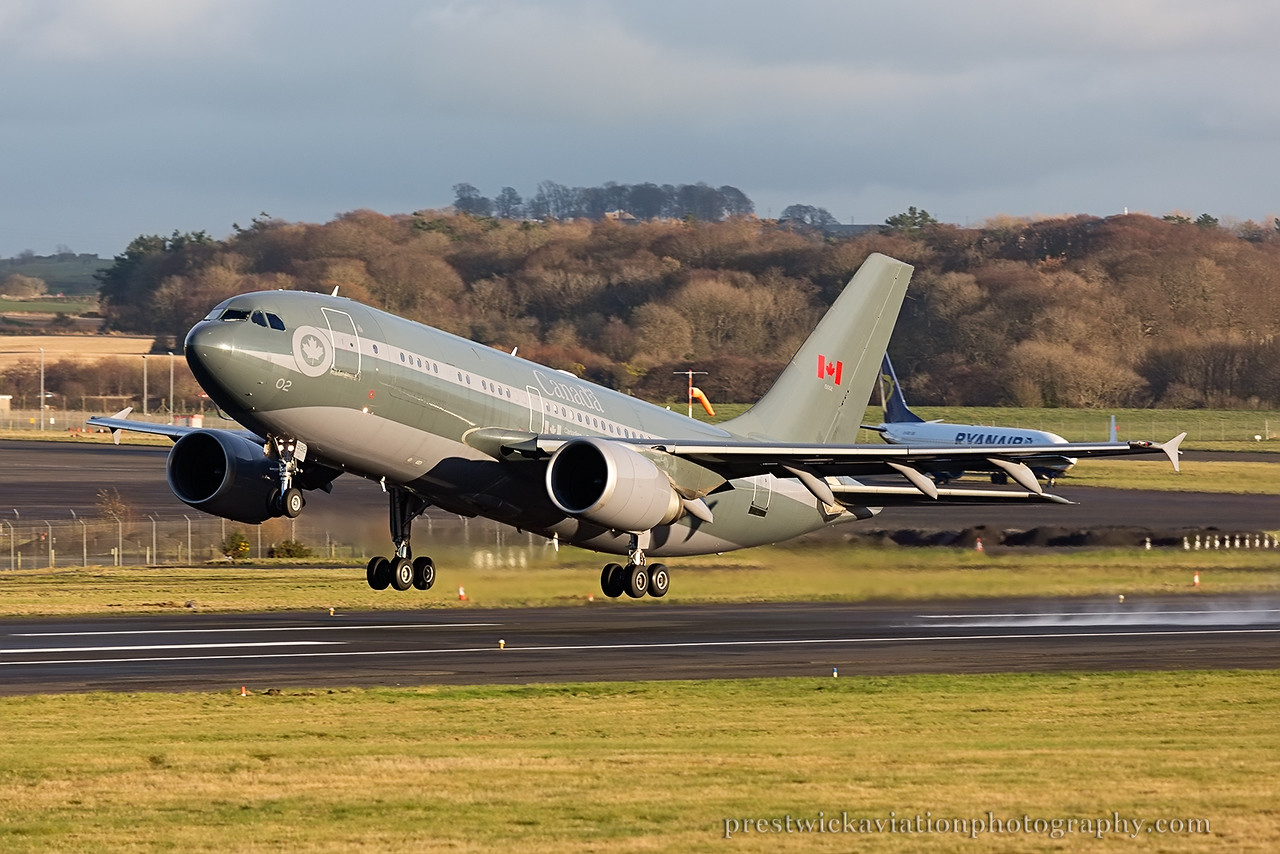15002. Airbus CC-150 Polaris. Canadian Air Force. Prestwick. 301114.