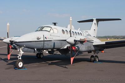 09-0623. Raytheon Beech MC-12W Liberty. USAF. Prestwick. 100914.
