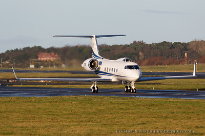 N214BM. Gulfstream Aerospace Gulfstream V. Private. Prestwick. 301114.