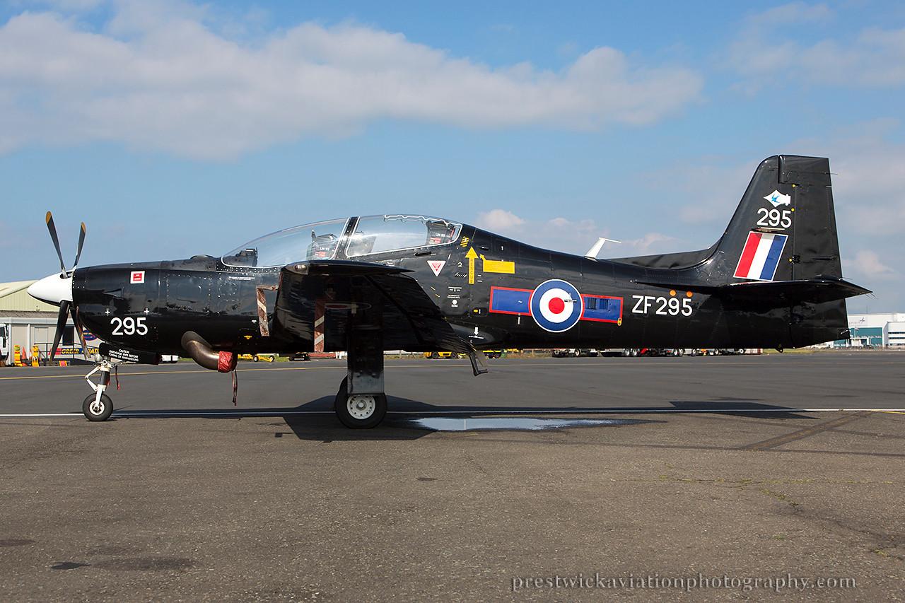 ZF295. Short S-312 Tucano T1. RAF. Prestwick. 060914.