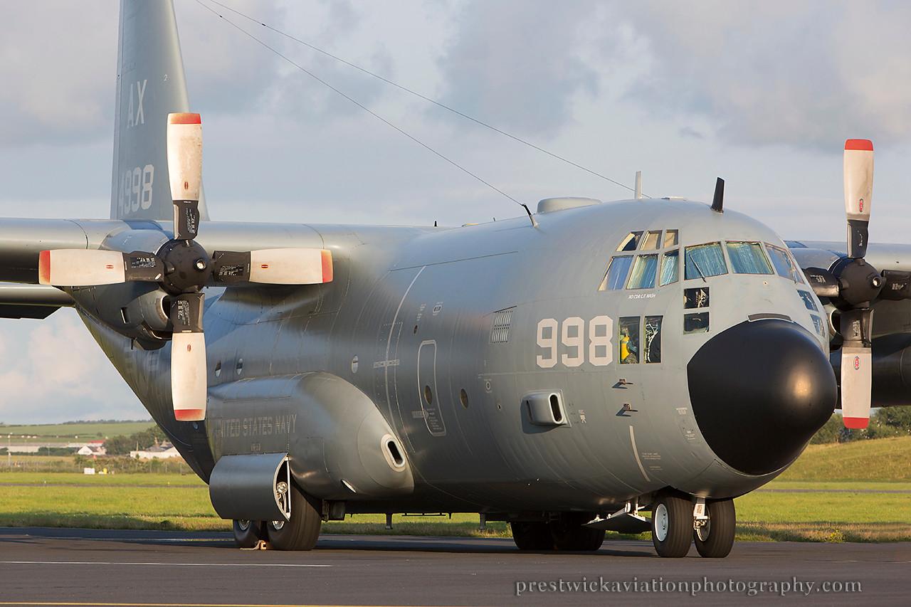 164998. Lockheed, KC-130T Hercules. US Navy. Prestwick. 010814.